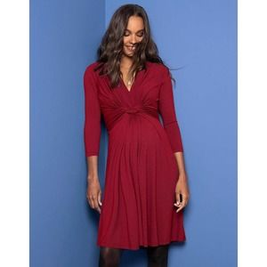 NWT Seraphine Knot Front Maternity Dress